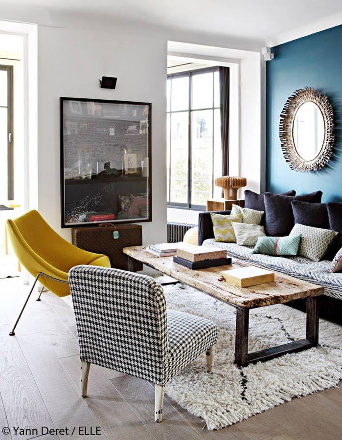 Beautiful Deco Salon Bleu Vintage Ideas - ansomone.us - ansomone.us