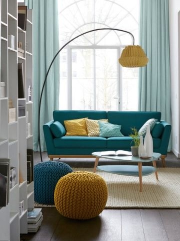 Salon Bleu Et Jaune. Beautiful Decoration Salon Bleu Gallery Design ...