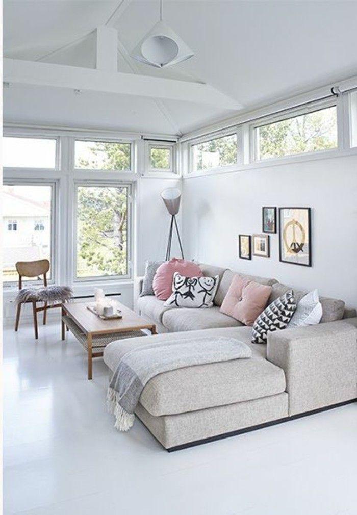Déco Salon - 41 images de canapé d\'angle gris qui vous inspire ...