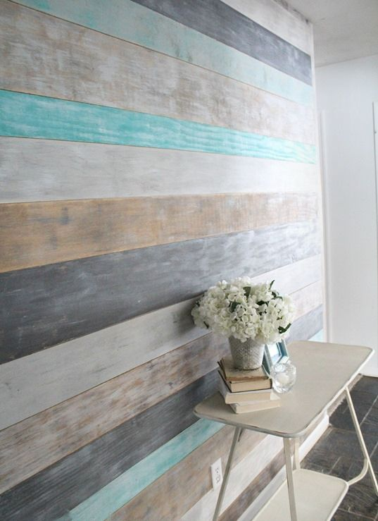 Deco Salon How To Diy A Wood Planked Accent Wall