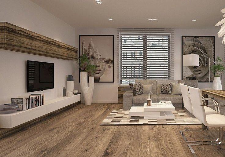 d co salon l cran plat mural option l gante pour le salon moderne. Black Bedroom Furniture Sets. Home Design Ideas