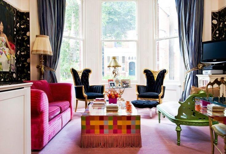 D co salon photo de salon en couleur chaude et froide leading - Deco salon couleur chaude ...