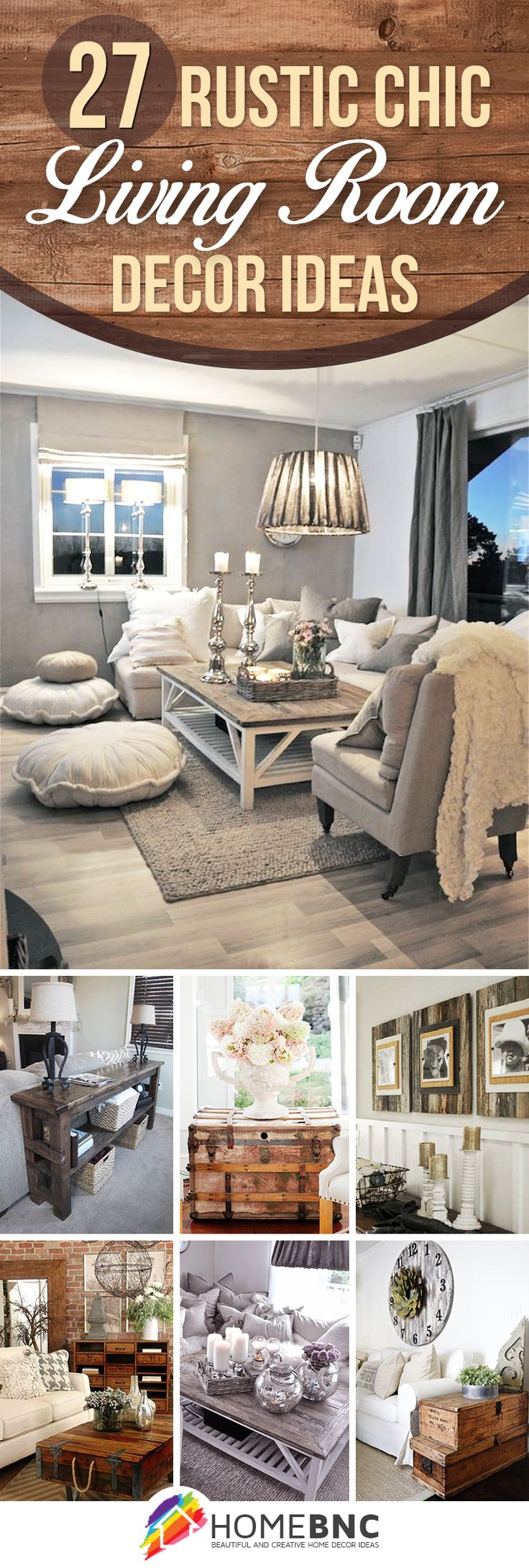 D co salon rustic chic living room ideas listspirit for Magazine living room ideas