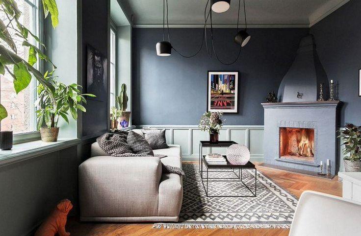 salon couleur taupe id e canap plante tapis sol chemin e. Black Bedroom Furniture Sets. Home Design Ideas