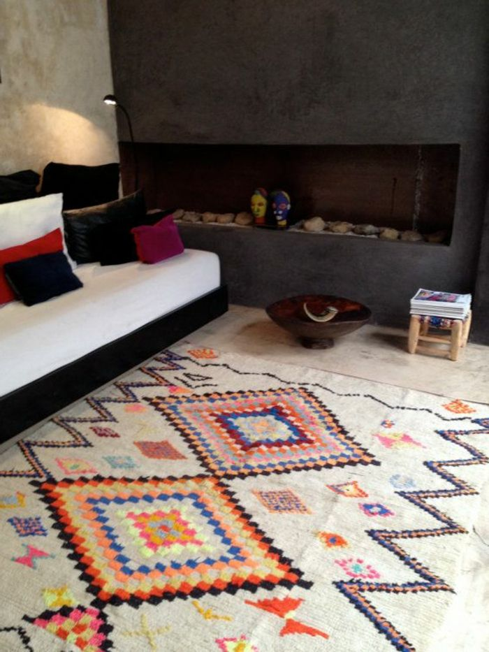 d co salon tapis berbere kilim pas cher color pour le