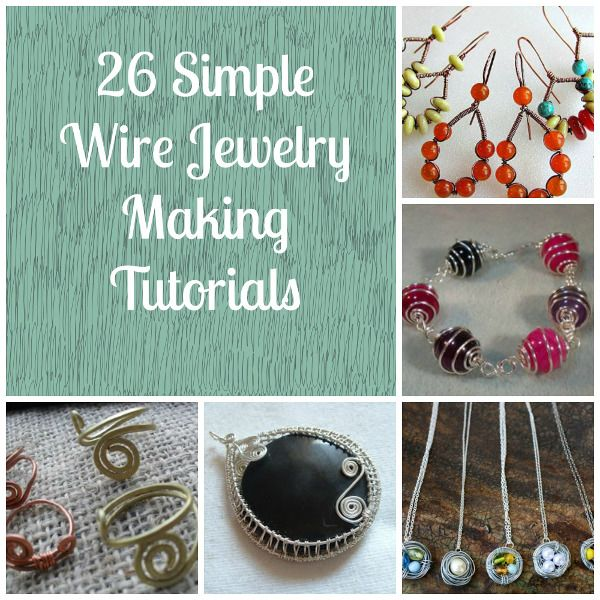 DIY Bijoux - 26 Simple Wire Jewelry Making Tutorials - ListSpirit ...