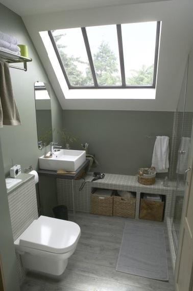 Peinture Petite Salle De Bain idée décoration salle de bain - amenagement d une petite salle de