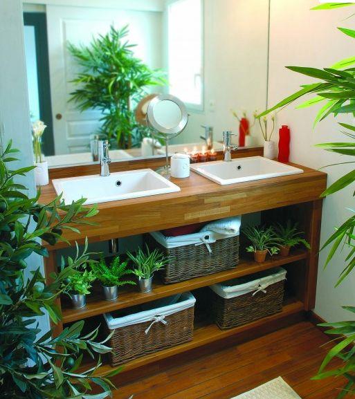 Id e d coration salle de bain cr er salle de bain - Decoration salle de bain zen bambou ...