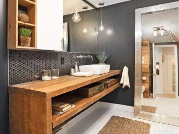 id e d coration salle de bain jolie salle de bain blanc gris plafond blanc murs gris sol en. Black Bedroom Furniture Sets. Home Design Ideas