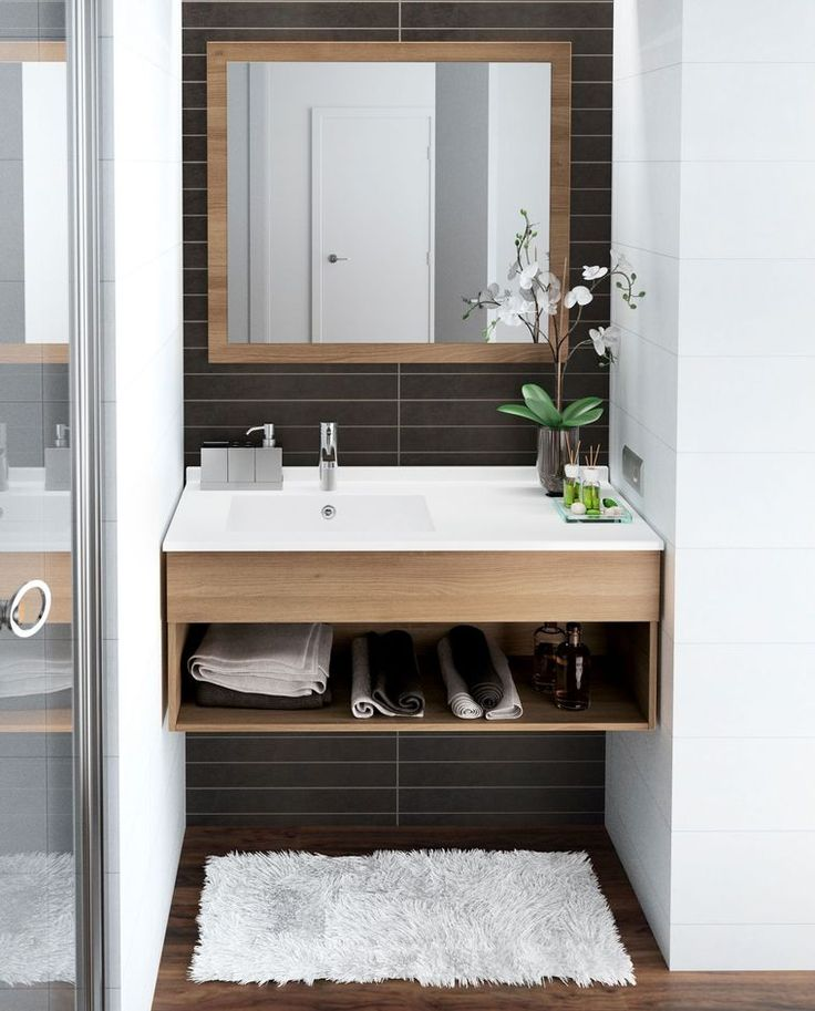 id e d coration salle de bain meuble salle bain bois design ikea lapeyre listspirit. Black Bedroom Furniture Sets. Home Design Ideas