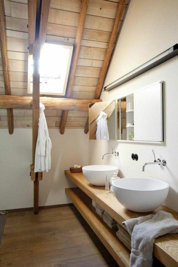 Idée décoration Salle de bain - Meuble salle de bain bois : 30 ...