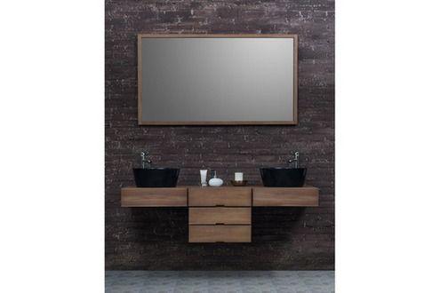 Id e d coration salle de bain meuble salle de bain bois for Ensemble meuble salle de bain bois