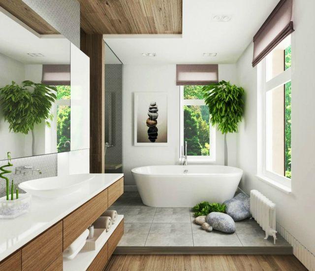 Idée décoration Salle de bain - Salle de bain de luxe chic et ...