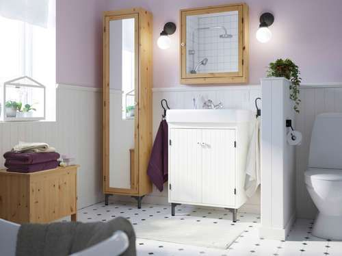 Idée décoration Salle de bain - salle de bains cloison separation ...