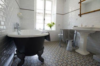 Idée décoration Salle de bain - Une salle de bains rétro chic sur la ...