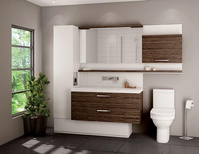 Idée décoration Salle de bain - vanité de salle de bain moderne ...