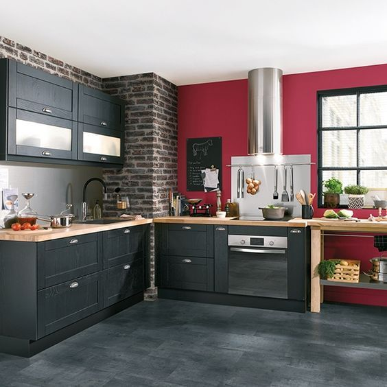 id e relooking cuisine cuisine bistrot 23 id es d co pour un style bistrot listspirit. Black Bedroom Furniture Sets. Home Design Ideas