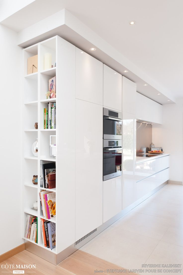 Id e relooking cuisine cuisine blanche design armony for Finition cuisine