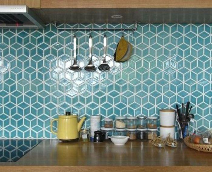 Idée relooking cuisine - Le carrelage mural en 50 variantes pour vos ...