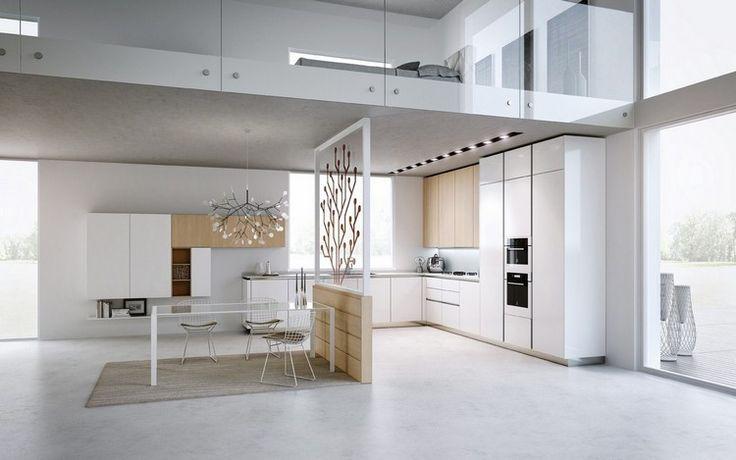 Ide Relooking Cuisine  Modle De Cuisine Moderne En Blanc Neige Et