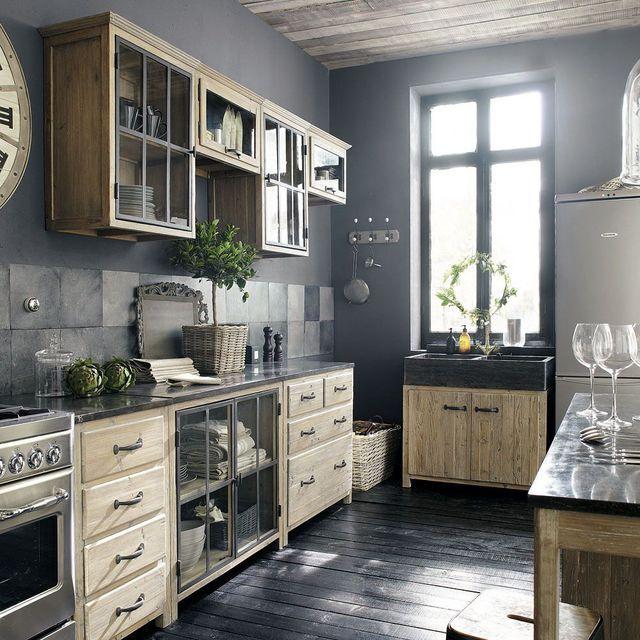 ide relooking cuisine une cuisine de campagne esprit loft wwwm habitatfr leading inspiration culture with meuble cuisine habitat