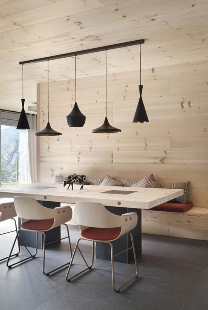 salle manger banquette repas salle manger moderne en bois leading. Black Bedroom Furniture Sets. Home Design Ideas