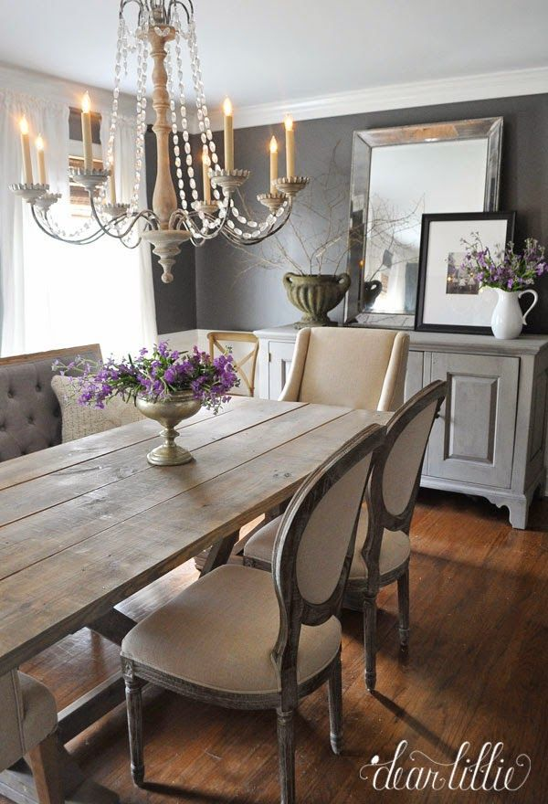 Dear lillie kendall charcoal in our dining room for Dining room design ideas pinterest