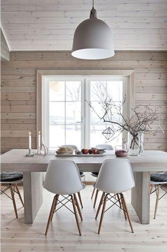 Salle à manger - décoration, éclairer, lumière, salle à manger ...