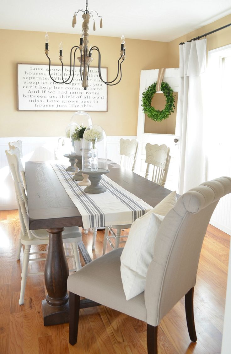 Modern Farmhouse Dining Room Makeover Beautiful