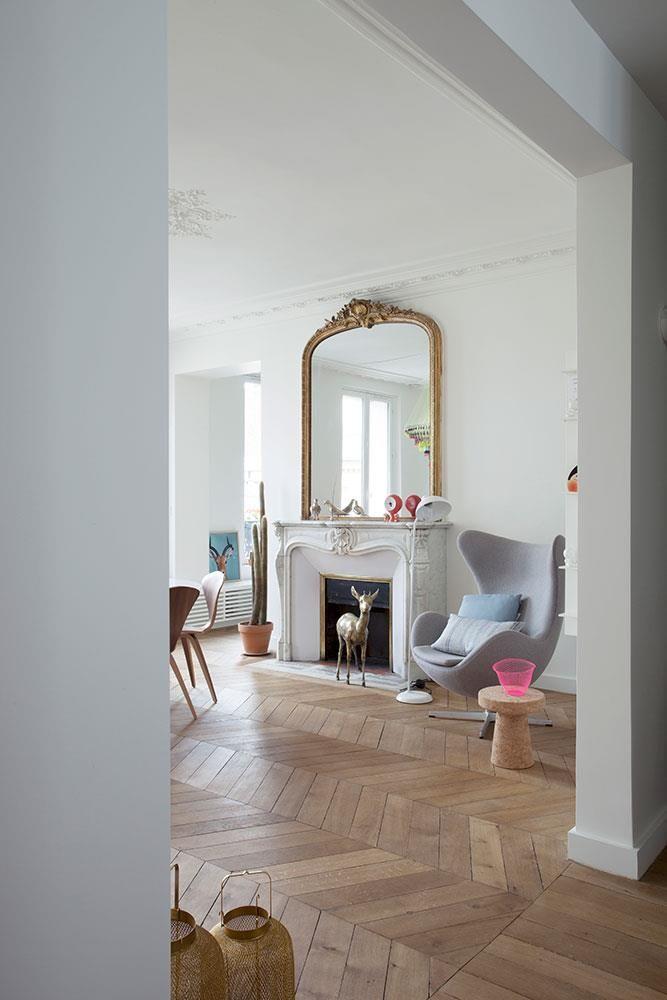 salle manger s jour d 39 un appartement haussmannien. Black Bedroom Furniture Sets. Home Design Ideas