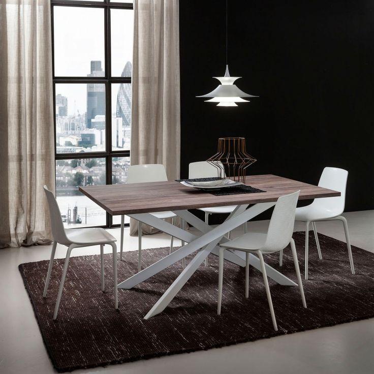 Salle A Manger Table Contemporaine Extensible En Stratifie Renzo