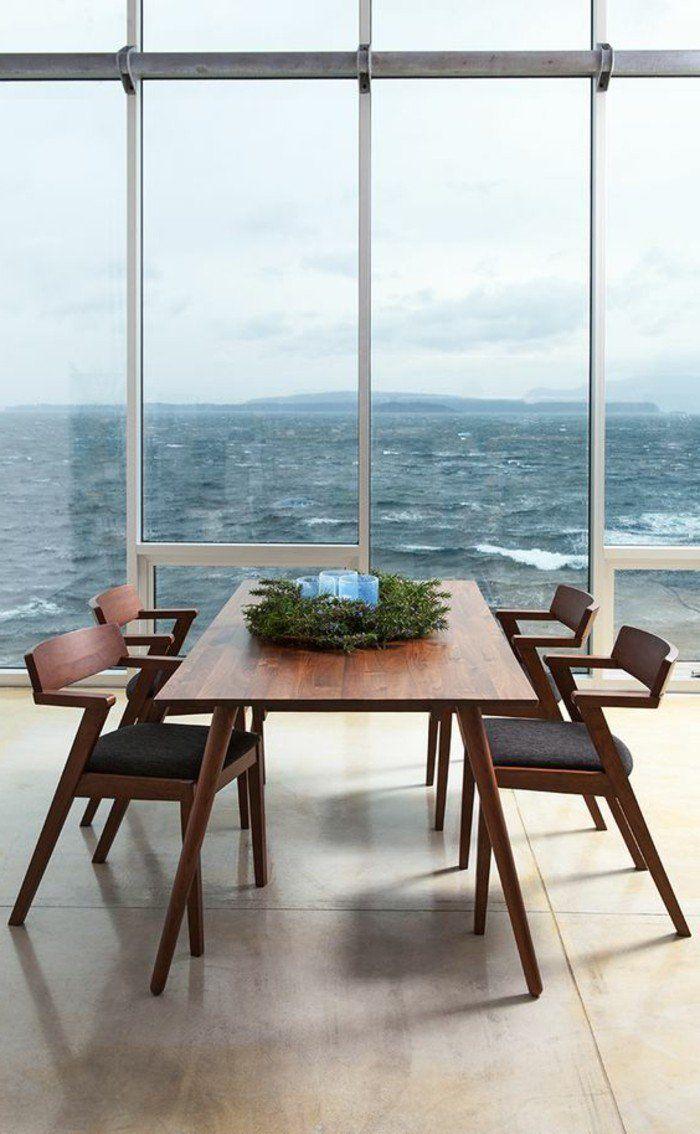salle manger table de salle manger design en bois fonc salle manger avec vue. Black Bedroom Furniture Sets. Home Design Ideas