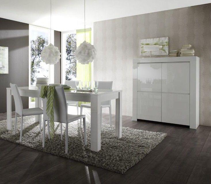 Salle à manger - Table de salle à manger design laquée blanche Twist ...