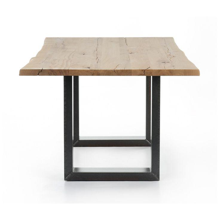 Salle manger table de salle manger moderne en bois amazone mobitec 4 pieds tables for Table a manger en bois moderne