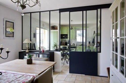 Id e relooking cuisine cuisine ouverte d limit e par une - Cloison separation cuisine sejour ...