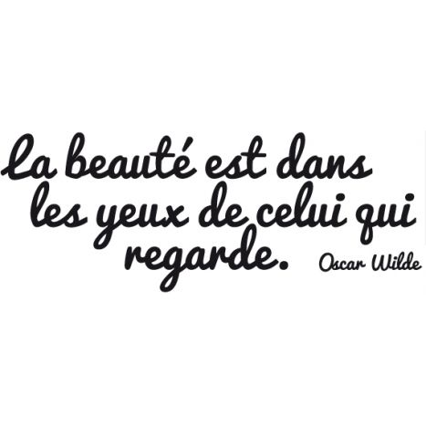 citation stickers citation la beaut citation d 39 oscar wilde. Black Bedroom Furniture Sets. Home Design Ideas