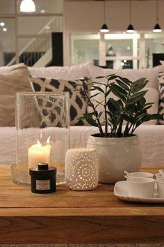 d co salon ambiance cocooning canap beige coussins color s plantes vertes salon mode. Black Bedroom Furniture Sets. Home Design Ideas