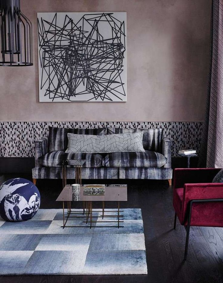 d co salon id e peinture salon la couleur moka en harmonie avec les accents gris bleus. Black Bedroom Furniture Sets. Home Design Ideas