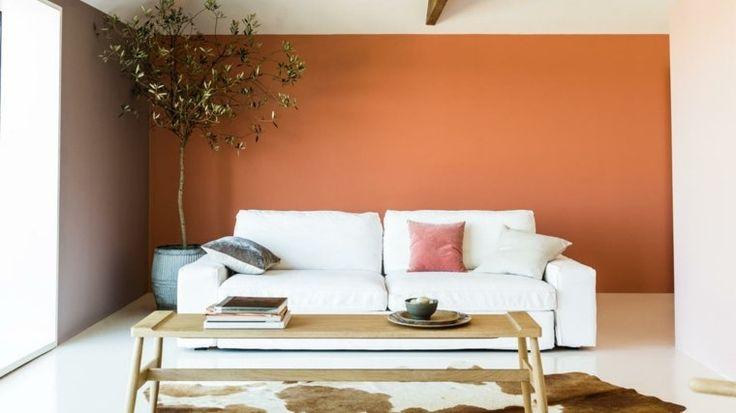 D co salon int rieur de salle de s jour en couleur chaude leading - Deco salon couleur chaude ...