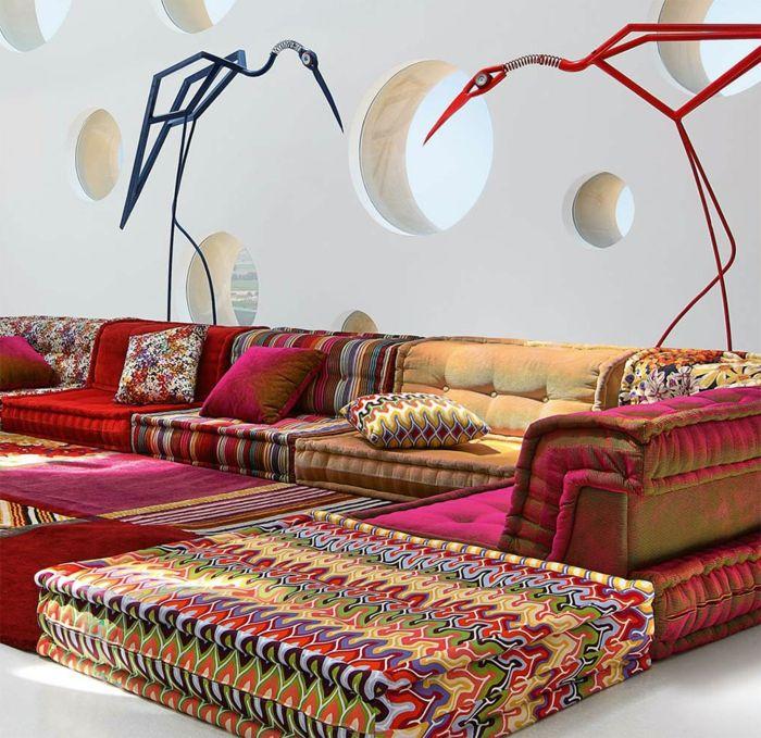 D co salon le canap marocain qui va bien avec votre for Le mag deco canape