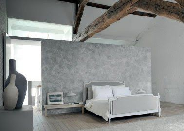 Peinture chambre parentale couleur gris et blanc for Deco chambre parentale grise