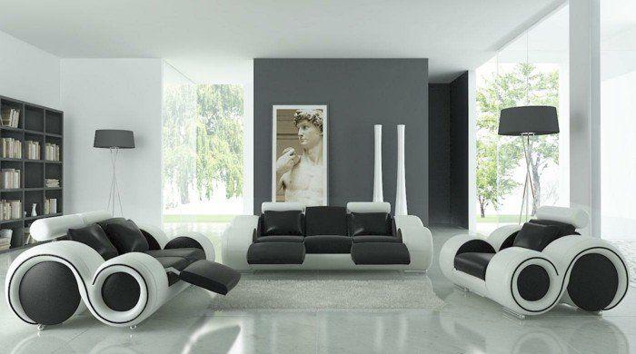 Description. Salon Gris Et Blanc ...