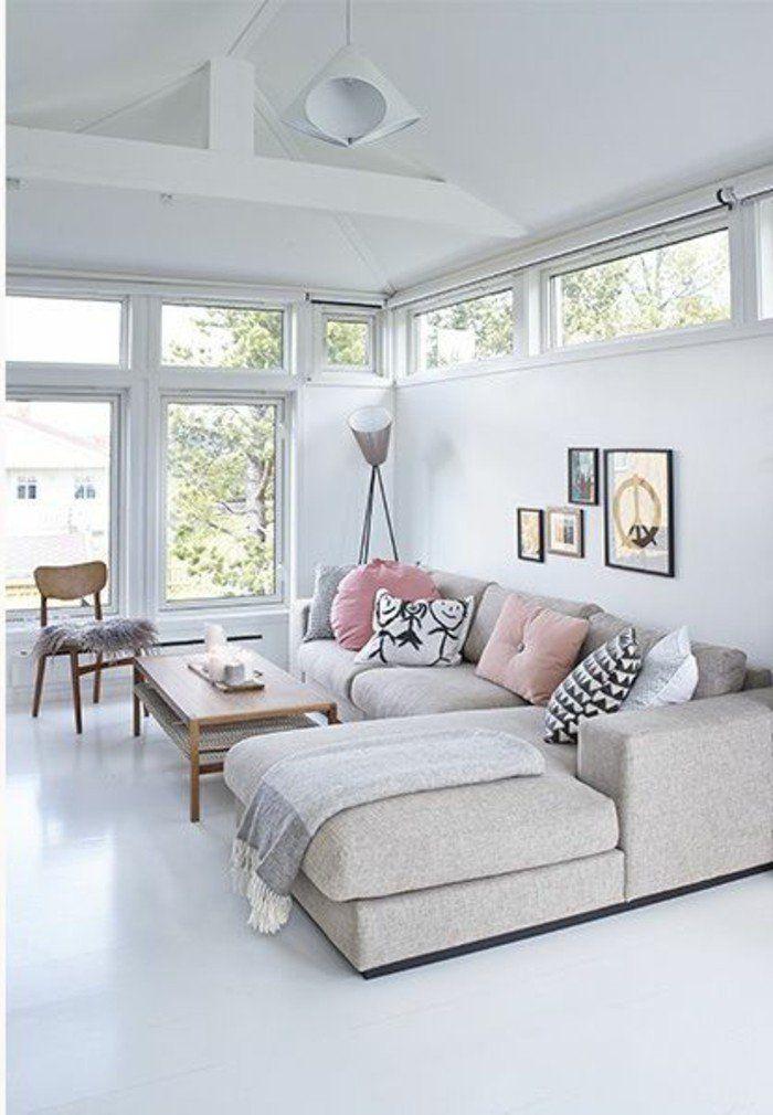 Déco Salon - salon moderne avec canapé d\'angle pas cher de ...