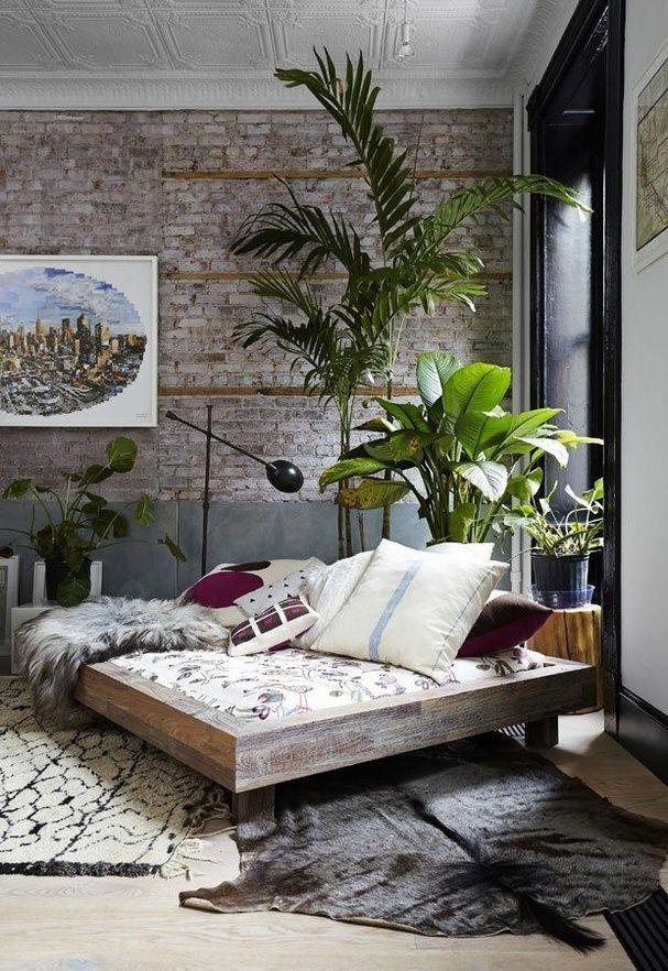Decoration Nature Une Chambre Boheme A L Esprit Loft Boho