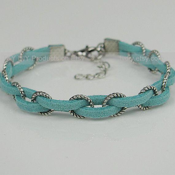 Diy Bijoux Braid Bracelet Leather Bracelet Antique Silver