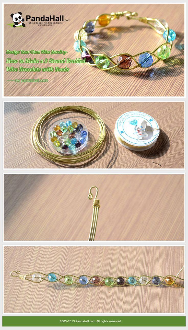 DIY Bijoux - How to Make a 3 Strand Braided Wire Bracelets ...