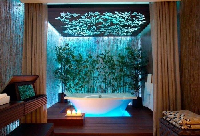 Idée décoration Salle de bain - amenagement salle de bain, bougies ...