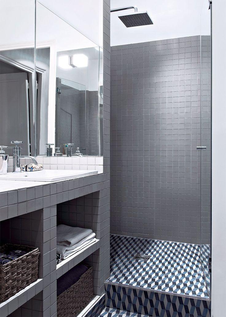 Idée décoration Salle de bain - Couleur grise pour la salle de bain ...