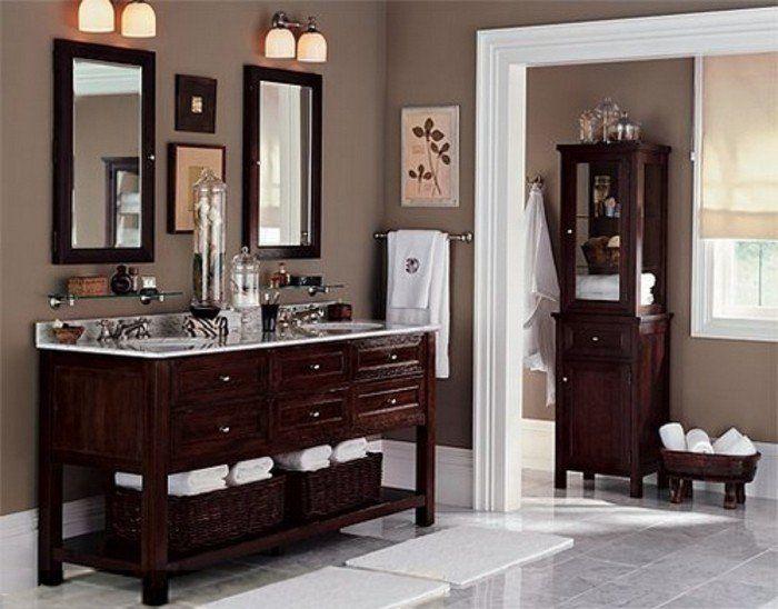 id e d coration salle de bain couleur salle de bain taupe meubles salle de bain en bois. Black Bedroom Furniture Sets. Home Design Ideas