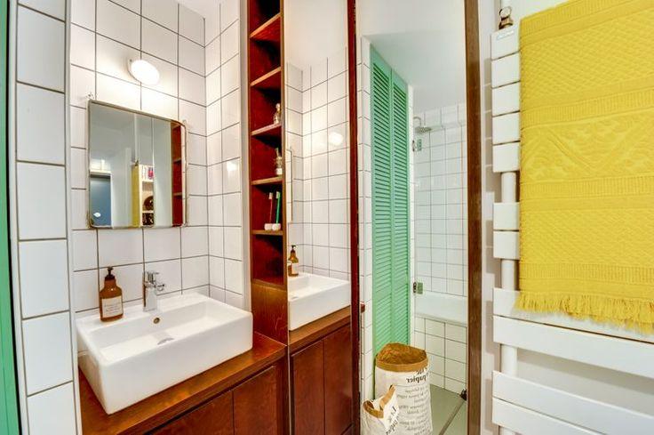 Idée décoration Salle de bain - deco salle de bains bois et vert ...